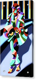 Mark Webster - Abstract Futurist Modern Woman In Tokyo Acrylic Print by Mark Webster