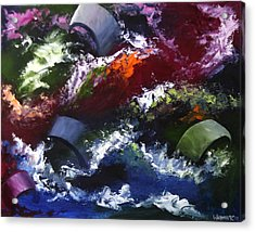 Acrylic Print featuring the painting Mark Webster - Abstraction 1 by Mark Webster