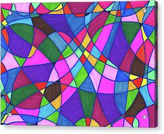 Marker Mosaic Acrylic Print