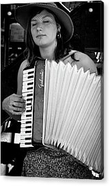Market Accordion Player Acrylic Print by David Patterson