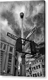 Market And Meeting Acrylic Print by Wendy Mogul