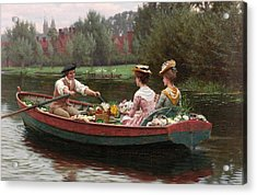 Market Day Acrylic Print by Edmund Blair Leighton