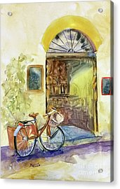 Market Day In Lucca Acrylic Print