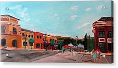 Acrylic Print featuring the painting Market Day by Linda Feinberg