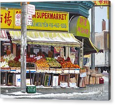 Market  Day  Acrylic Print by Margit Sampogna