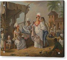 Market Day, Roseau, Dominica Acrylic Print by Agostino Brunias