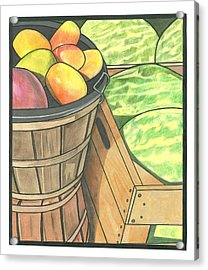 Market Display Acrylic Print by Lesley Rutherford