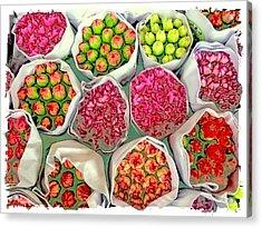 Market Flowers - Hong Kong Acrylic Print