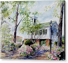 Acrylic Print featuring the painting Market Hall In The Spring by Gloria Turner