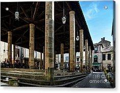 Market Hall Of Cordes-sur-ciel Acrylic Print by RicardMN Photography