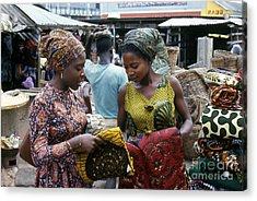 Market In Accra Ghana Acrylic Print by Erik Falkensteen