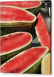 Acrylic Print featuring the photograph Market Melons by Michael Flood