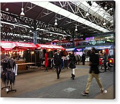 Acrylic Print featuring the photograph Market Movement by Christin Brodie