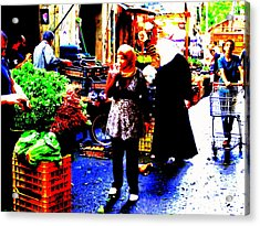 Market Scenes Of Beirut Acrylic Print by Funkpix Photo Hunter
