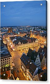 Market Square In The Old Town Of Wroclaw Acrylic Print by Guy Vanderelst