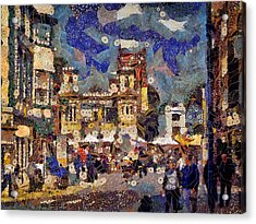 Market Square Monday Acrylic Print