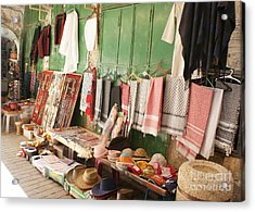 Market Stall In Hebron 2 Acrylic Print