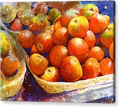 Market Tomatoes Acrylic Print by Andrew King