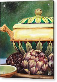 Market Tureen Acrylic Print by Denise H Cooperman
