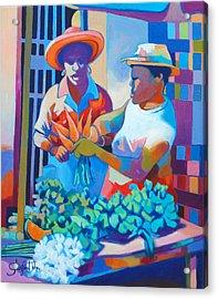 Market Vendor Acrylic Print