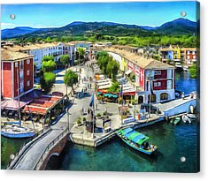 Marketplace In Port Grimaud Acrylic Print