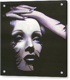 Marlene Dietrich Acrylic Print by Elizabeth Silk