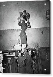 Marlene Dietrich Kissing Soldier Returning From Ww2 1945 Acrylic Print