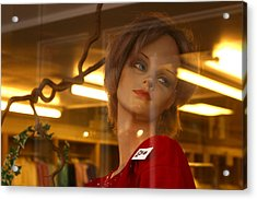 Marlene Looks At Her Life Acrylic Print by Jez C Self
