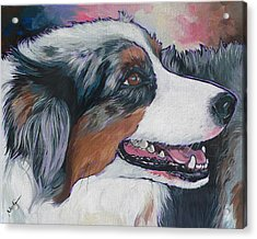 Acrylic Print featuring the painting Marley by Nadi Spencer