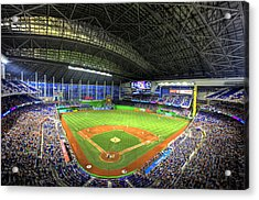 Marlins Park Acrylic Print by Shawn Everhart