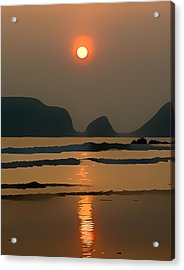 Marloes Sunset Acrylic Print by Gareth Davies