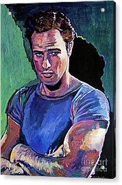 Marlon Brando Acrylic Print by David Lloyd Glover