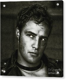 Marlon Brando - Painting Acrylic Print