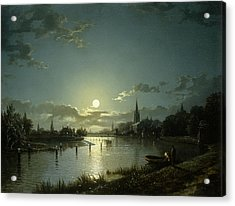 Marlow On Thames Acrylic Print by Hnery Pether