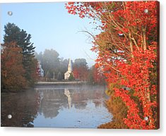 Marlow Village Early Autumn Morning Acrylic Print by John Burk