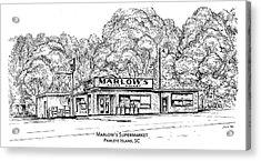 Marlows Market Acrylic Print by Greg Joens