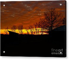 Acrylic Print featuring the photograph Marmalade Sky by Donald C Morgan