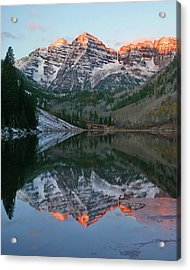 Maroon Bells At Sunrise Acrylic Print