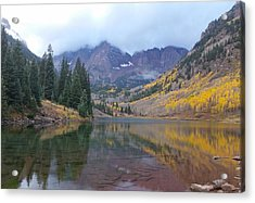 Maroon Bells In Autumn - Snow Mass, Co Acrylic Print