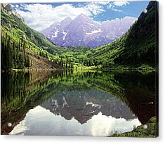 Acrylic Print featuring the photograph Maroon Bells  by Jerry Battle