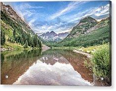 Maroon Bells Near Aspen, Colorado Acrylic Print by Peter Ciro