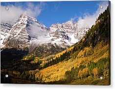 Acrylic Print featuring the photograph Maroon Bells by Steve Stuller