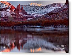 Acrylic Print featuring the photograph Maroon Fisher Towers by Adam Jewell