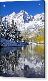 Maroon Lake And Bells 2 Acrylic Print