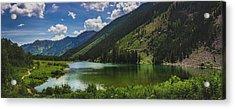 Maroon Lake Panorama Acrylic Print