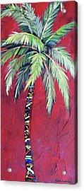 Maroon Palm Tree Acrylic Print