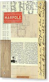 Marpole Acrylic Print by Nancy Merkle