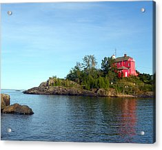 Marquette Harbor Lighthouse Reflection Acrylic Print