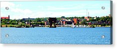 Marquette Michigan Harbor One Acrylic Print by Phil Perkins
