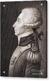 Marquis De Lafayette Acrylic Print by American School